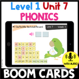 Level 1 Unit 7 BOOM CARDS Glued Sounds Distance Learning