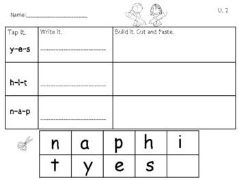 Phonics Level 1 Units 2-14 Word Building BUNDLE