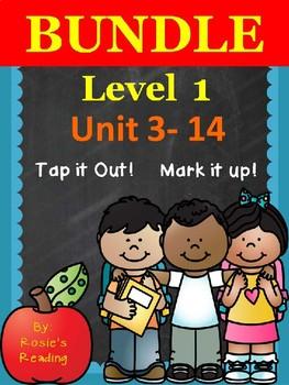 Level 1 - Units 3 - 14 BUNDLE Tap it Out! Mark it Up!