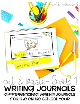 Differentiated Writing Curriculum- Level 1 (Cut and Paste)