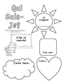 Level 1 and 2 Back to School Activity: Qui Suis Je Poster