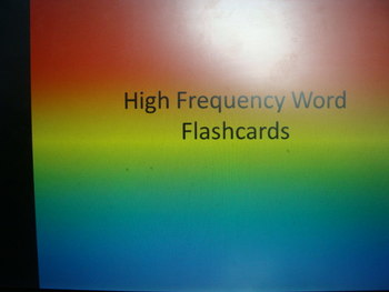 Level 1 high frequency word flash cards (full set)