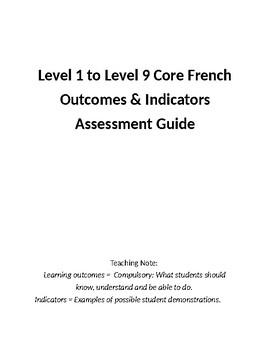 Level 1 to 8 Saskatchewan Outcomes & Indicators Charts