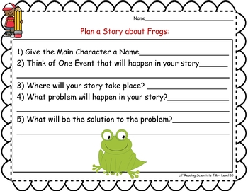 Blends (Set A) - Writing Prompts for Writing Centers (OG)
