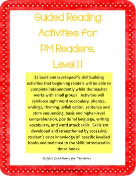 Level 11 Guided Reading Activities for PM Readers