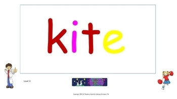 Long Vowels - Picture Prompts and Words - Flip Chart (OG)