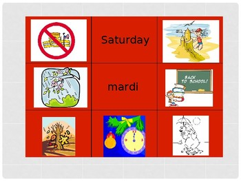 Level 1&2 Calendar, Seasons, and Weather Review Tic Tac Toe
