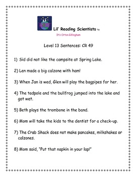 Two Syllable Words - Decodable Stories, Sentences, and Word Cards (OG)