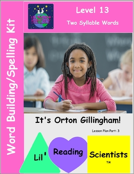 Two Syllable Words - Word Building with Two Syllable Words (OG)