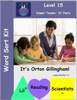 Vowel Teams - Word Sort Kit (Spellings for 31 Vowel Teams) (OG)
