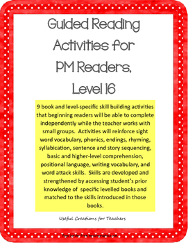 Level 16 Guided Reading Activities for PM Readers