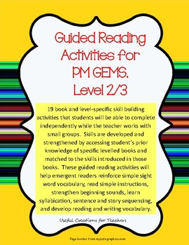 Level 2/3 Guided Reading Activities for PM GEMS (Magenta)