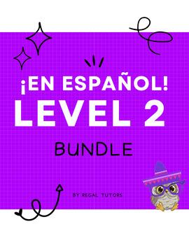 ¡En español! Level 2 Bundle