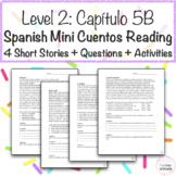 Level 2 Chapter 5B Spanish Emergency Hospital Short Stories Reading Activity