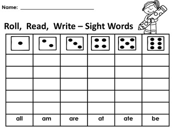 Level 2 Dolch Sight Words for Centers; Special Ed., Autism