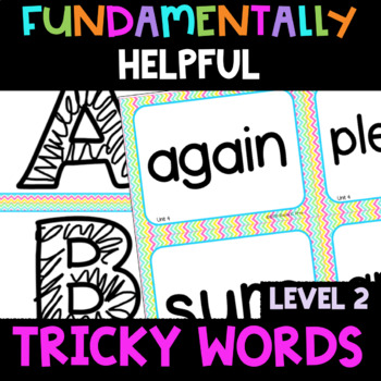 2nd Grade FUNdamentally Helpful Tricky Word Cards