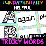 2nd Grade FUNdamentally Helpful Tricky Word Cards