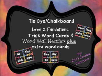 Level 2 Fundation ~ Trick Word Cards and Header