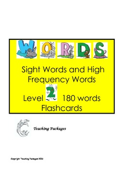 Level 2 High Frequency and Sight Words Flashcards