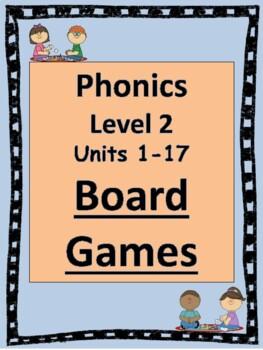 Level 2 Phonics Board Games BUNDLE