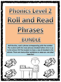 Level 2 Roll and Read Phrases BUNDLE units 1-17