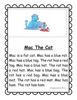 Short A (CVC) - Decodable Stories, Sentences, and Word Cards (OG)