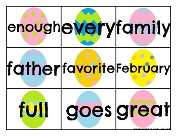 Level 2 Trick Word Cards Easter