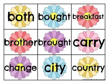 Level 2 Trick Word Cards Spring