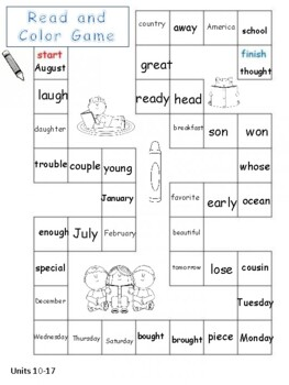 Level 2 Trick Words Board Games
