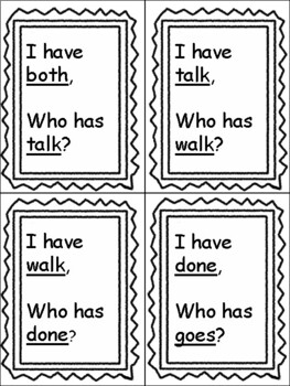 Level 2 Trick Words: I Have, Who Has? BUNDLE
