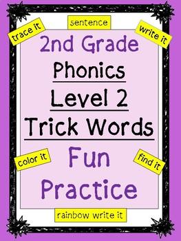 Level 2 Trick Words Practice BUNDLE