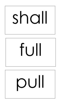 Level 2 Trick Words Word Wall