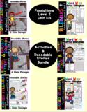 Level 2 Unit 1-3  Second Grade Decodable Stories & Activities Bundle