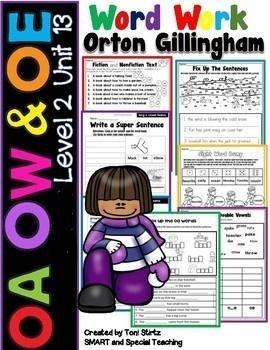 OA  OW  & OE  Level 2 Unit 13 Activities Dyslexia/RTI