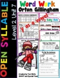 Level 2 Unit 7 Fun Phonics Activities (Open Syllables & Cr