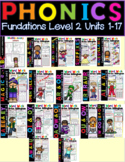 Level 2 Bundle Units 1-17 Second Grade Phonics Activity Word Work
