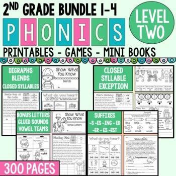 Level 2 Units 1-4 Bundle 2nd Grade Phonics