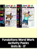 Level 2 Units 16-17 Second Grade Fun Phonics Activity Bundle