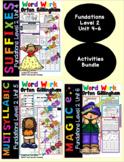Level 2 Units 4-6 Second Grade Fun Phonics Activity Bundle