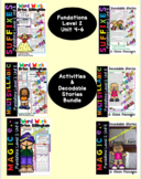 Level 2 Units 4-6 Second Grade Fun Phonics Activity & Decodable Stories Bundle