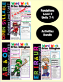 Level 2 Units 7-9 Second Grade Fun Phonics Activity Bundle