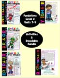 Level 2 Units 7-9 Second Grade Phonics Activity  & Decodable Stories Bundle