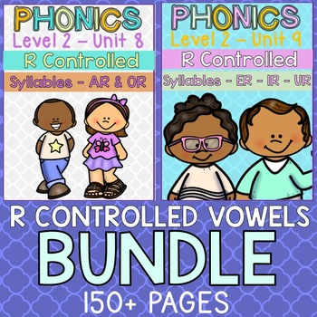 Phonics Level 2 Units 8 & 9 - R Controlled Syllable Bundle