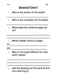 Level 25 text: Bowled Over worksheets