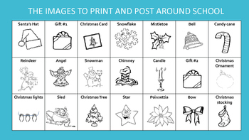 Level 3&4 Christmas French Post Reading Activity - Treasure Hunt