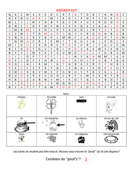 Level 3&4 St. Patrick's Day Wordsearch with Images