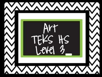 Level 3 Art TEKS Cards
