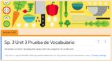 Level 3 Realidades Ch. 3 Vocab Quiz / Prueba de vocabulario
