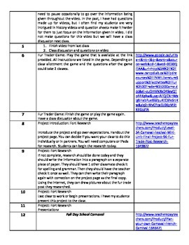 Level 3&4 Mini Unit (Year 1):The Red Sash Book&Fur Trade Unit Outline&Assessment