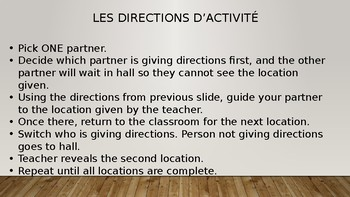 Level 4 Activity: Giving Directions in French